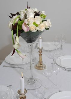 glass wedding centerpieces - Google Search