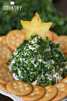 Christmas Tree-Shaped Cheese Ball Recipe on Yummly. @yummly #recipe