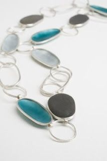grace girvan jewellery, enamel pebble necklace