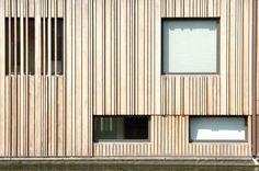 muntboat /BYTR architecten wooden facade, architecture