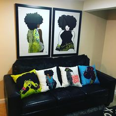 When my hubby told me he was going to have a mancave I hopped on the phone with @pardonmyfro and said girlllll I need to decorate my woman cave all pieces purchased from @pardonmyfro check them out Beauties.  www.BIGCHOPHAIR.com