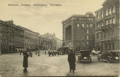 Helsinki in the beginning of 1900 - Erottaja. Map Pictures, Helsinki, The Old Days, Historical Pictures, Before Us, Good Old, Old World, Old Photos, Finland