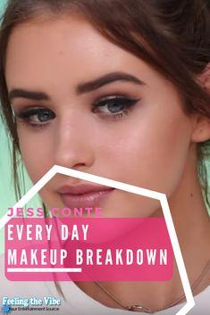 Jess Conte Makeup - Get her Everyday Look Beauty Breakdown Inside. :)   #JessConte #Makeup #Tutorial