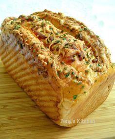 Peng's Kitchen: Ham & Cheese Herb Loaf