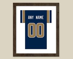 St. Louis Rams Team Colors Poster print  Jersey by CSportImages