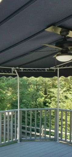 Outdoor Living   Vacation In Your Own Backyard   Stationary Sunbrella Deck  Canopy