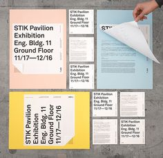 STIK Pavilion Exhibition on Behance in Branding & Identity - Posters Typography Layout, Lettering, Typography Poster, Graphic Design Typography, Design Brochure, Booklet Design, Branding Design, Web Design, Layout Design