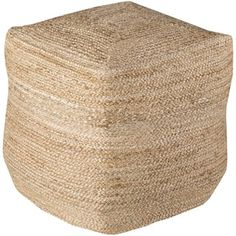 Shop for Solid Orly Square Jute 18-inch Pouf. Get free shipping at Overstock.com - Your Online Home Decor Outlet Store! Get 5% in rewards with Club O! - 17643190
