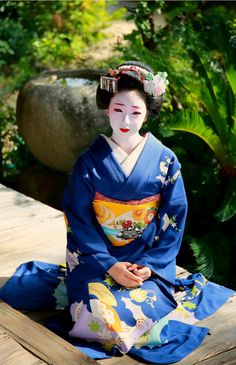 Maiko, Toshimomo. Shooting location is Eiunin Temple. Kyoto. Japan.