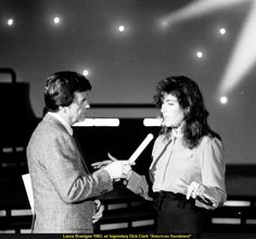 "Laura 1983, w/ Dick Clark, TV-show ""American Bandstand"""