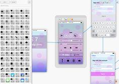 First glimpse of the new iOS 7 mobile app prototyping library from FluidUI.com