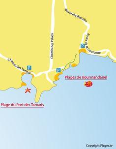 Carte de la plage de Bourmandariel à La Couronne
