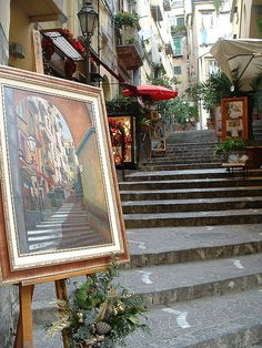 Paintings on the Streets of Naples,Italy