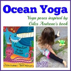 Ocean Yoga and Books by Giles Andreae (Printable Poster Ocean Yoga poses inspired by book by Giles Andreae for this month's Virtual Book Club for Kids >> Kids Yoga Stories Kids Yoga Poses, Yoga For Kids, Exercise For Kids, Preschool Yoga, Preschool Themes, Printable Poster, Ocean Activities, Movement Activities, Motor Activities