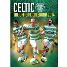 Celtic FC Hoops 2014 Calendar new in original packaging Scottish Premier League