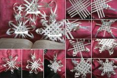 Woven paper star