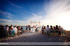 Sunset Wedding at Fort Zachary Taylor, photography by Alecia Hoyt Photography   #keywestwedding #katebentleyevents #weddingceremony #sunsetwedding #beachwedding #beachceremony