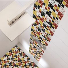 disney house decor Bring the magic only Disney can create to your home with the Disney Mickey Multi Glass Mosaic Wall Tile. Bring the playful fun of the classic Mickey Mouse head de Mickey Mouse Bathroom, Mickey Mouse House, Mickey Mouse Kitchen, Mickey Y Minnie, Disney Kitchen, Disney Mickey, Disney Fun, Disney Stuff, Disney Magic