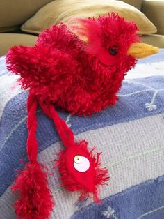 A Baby Phoenix - Absolutely Adorable and Awesome! (Part of a Craftster Care of Magical Creatures Swap) <3 <3