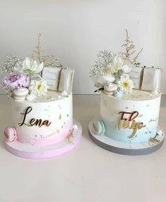 Boy Communion Cake, First Communion Favors, Christening Cake Boy, Dessert Decoration, Dream Cake, Cakes For Boys, Girl Cakes, Cute Cakes, Baby Shower Cakes