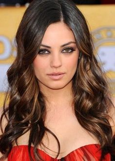 hazel streaks from cheek level downwards to accentuate your eyes and cheekbones.50 Best Brown Hair Color Ideas for 2014 | herinterest.com