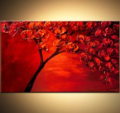 Landscape Painting ORIGINAL Abstract Contemporary by OsnatFineArt, $360.00