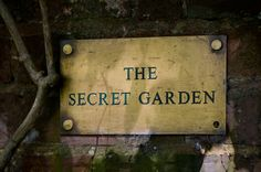 I would love a walled secret garden!