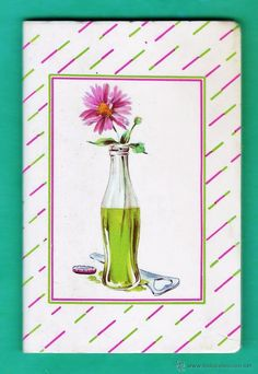 libreta telefonos / direcciones - vaso y flor - ed. kartos / italia - sin estrenar - años 70 / 80