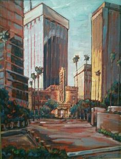 """Fox Theater, Tucson AZ"" by Lisa Kanouse; 24x36 osd; $725"