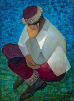 LOUIS TOFFOLI (1907-1999) Sommeil Huile sur toile, signée en bas à droite, titrée au dos 73 x 54 cm - 28 3/4 x 21 1/4 in. Oil on canvas, signed lower right and titled on the reverse - Aguttes - 08/04/2018
