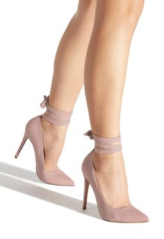 Wilda wraparound lace pump Break up the classic feel of pointed-toe pumps with Wilda thanks to her thick ankle lace-up detail. Fancy Shoes, Pretty Shoes, Cute Shoes, Lace Pumps, Women's Pumps, Diy Lace Up Heels, Shoe Boots, Shoes Heels, Heeled Sandals