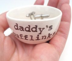 DADDY'S CUFFLINKS holder father's day gift idea by ElyciaCamille, $18.00