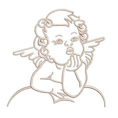 Angel Drawing, Baby Drawing, Angel Wings Clip Art, Broderie Anglaise Fabric, Angel Outline, Baby Angel Tattoo, Cherub Tattoo, Etched Mirror, Baby Silhouette