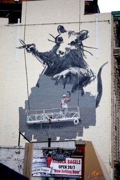 Banksy - Tribeca - NYC  www.nicolagatti.net