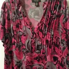 Top style and co Pink gray top flower Style & Co Tops Blouses