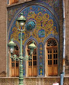 Colorful Glazed Tiles at Golestan Palace - Iran