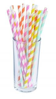 Pack of 24 paper straws in assorted colours. Paper Straws, Colours, Products, Gadget