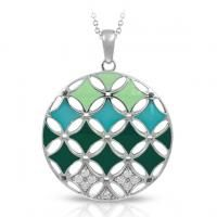 Belle Etoile- Stardust Collection- Green Pendant