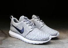 9294ce433279 Nike Flyknit Roshe Run - Grey - Navy - SneakerNews.com Nike Roshe Flyknit