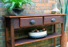 reclaimed wood dining buffet table decor - Google Search