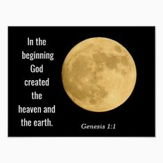 In the beginning --- Art print -Genesis 1 In the beginning God created the heaven and the earth. ~~~Genesis 1:1 ~~~ Art Print