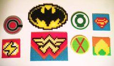 Check it out! Justice League Set from Jessica's Perler Crafts-Cyborg, Batman, Green Lantern, Superman, The Flash, Wonder Woman, Martian Manhunter, and Aquaman.