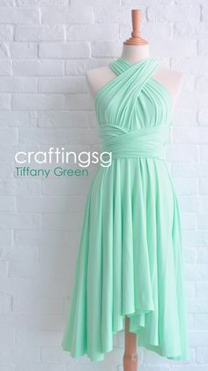 Bridesmaid+Dress+Infinity+Dress+Tiffany+Green+Knee+by+craftingsg,+$35.00