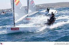 Francia: ISAF Sailing World Cup - Hyères 2013. Pablo Guitián, integrante del proyecto TodoRegatas Sailing Team.
