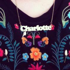 """Charlotte"" Standard size, White, Ladybug, Bird Charm"