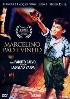 """""""Miracle of Marcelino"""" is a 1955 Spanish film.  Marcelino bread and wine is a small orphan who cause a miracle.    When baby was left on the door of a monastery and raised by monks.    Marcellin is very well taken care of by the monks, but always felt lack of having a mother.    One day he meets a special friend in the attic forbidden ... Hanging on a cross. A friend who returned the kindness of Marcellin granting a wish from the bottom of his heart."""