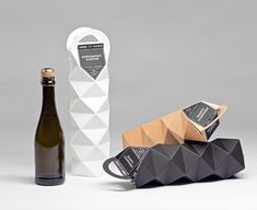 Faceted packaging for Quartz Champagne by Cajza Nydén + Max Molitor