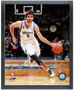 """Ricky Rubio 2013-14 Timberwolves - 11"""" x 14"""" Photo in a Glassless Sports Frame"""