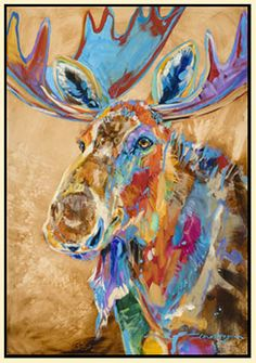 Original paintings from Montana artist Carol Hagan. Wildlife Paintings, Animal Paintings, Rena, Cow Art, Southwest Art, Illustrations, Gaudi, Western Art, Antlers