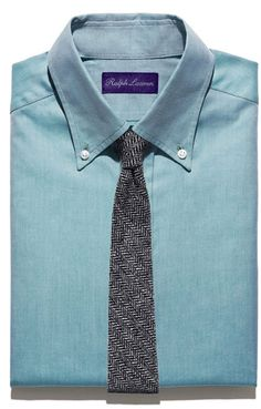 plain shirt and tie